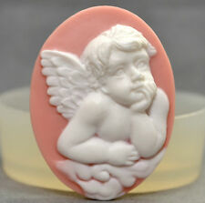 ANGEL CAMEO silicone mould Cupcake polymer clay chocolate resin fimo mold wax