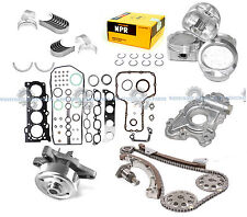 98-99 TOYOTA COROLLA CHEVY PRIZM 1.8L 1ZZFE DOHC OVERHAUL ENGINE REBUILD KIT MLS