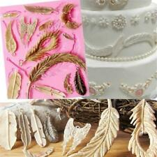 Feather Wings Fondant Cake Mould Baking Tool Chocolate Silicone Mold Craft Q