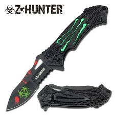 Z-Hunter Toxic Green MONSTER CLAWS Spring Assisted BIOHAZARD Folding Knife