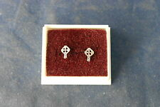 Beautiful Silver Earrings With Cross Design 0.7 Gr.0.5 Cm Wide With Gift Box