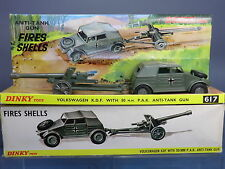 DINKY TOYS MODEL No.617 VOLKSWAGEN KDF & 50mm P.A.K. ANTI-TANK GUN VN  MIB