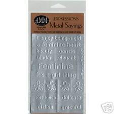Sticker-AMM Expressions Sayings-Feminine-Scrapbooking