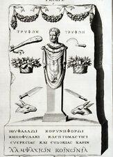 Priape Antiquité Montfaucon Mythologie Fertilité Architecture Gravure XVIIIe