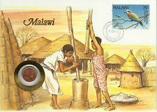 MALAWI OISEAUX COQ ROLLIER CORACIAS CAUDATUS ROLLER BIRDS VÖGEL 1 TAMBALA 1992
