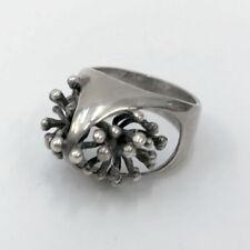 â• 60s Vintage Brutalist Silver Ring 925 : modernist lamp chair necklace 50s Mcm