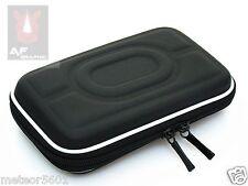 "Black Hard Carry Case Cover Bag Zipper Cover Pouch 2.5"" HDD 5"" GPS Garmin Nuvi"