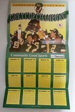 "1994 EDMONTON ESKIMOS calendar POSTER 12"" x 22"" Edmonton Journal  CFL classic"