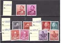 EDIFIL 1296/7 1292/3 1320/1 1328/9 1351/2 SELLOS ESPAÑA AÑOS 1960-1961