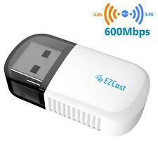 Bluetooth 600Mbps USB WiFi Adaptador inalámbrico Dongle para PC portátil