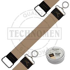 CUT THROAT STRAIGHT RAZOR KNIFE SHARPENING LEATHER STROP BALM PASTE LEDERBALSAM