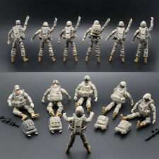 6pcs 1:18 US 101st Airborne Division Soldiers Action Figure Models With Weapon
