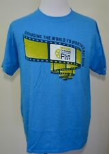 Chagrin Documentary Film Festival 2013 t-shirt large blue Chagrin Falls Ohio