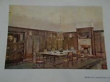 Arts & Crafts 1907 Architectural Architecture print DINING Room by HD SIMPSON