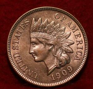 Uncirculated Red 1909 Philadelphia Mint  Indian Head Cent