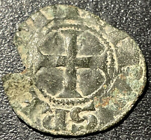1314-1316 France Louis X 'The Quarrelsome' Silver Denier Tournois Medieval Coin