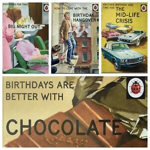 HUMOUROUS BIRTHDAY CARDS ~ From The LADYBIRD FOR GROWN-UPS COLLECTION