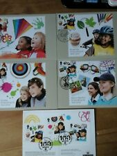 2010 GIRLGUIDING UK CENTENARY PHQ 331 SET OF 5 STAMP CARDS FDI FRONT SPECIAL H/S