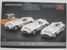 CMC Faltblatt, Mercedes-Benz 300 SLR Sondereditionen, deutsch, 4 Seiten