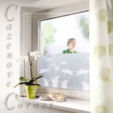 Decorative Orchid Pattern Privacy window Film 45 x 300 cm