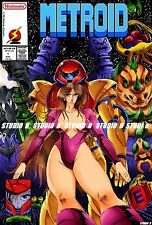 Metroid Smash bros manga NES FAMICOM WII ps4 SAMUS Nintendo poster analogue Nt