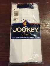 Jockey Classic Tappered Boxer White 38 NOS 2000 Syle 8586