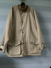 Ralph Lauren Mens Nude Brown Leather Collor Cotton Trench Coat Size XL Large