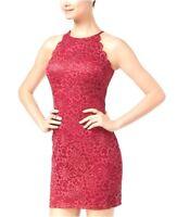 BCX Size 5 Halter Dress Juniors' Scalloped Glitter Lace Bodycon Dress NEW $59