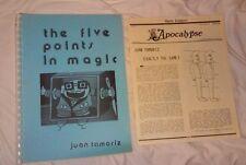 Juan Tamariz Lecture Notes & Mag Card Magic Japan Sanada Finger Thru Bill, Coin