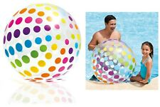 "Giant Intex 42"" Inflatable beach ball DOT design Jumbo ball - 107cm white colour"