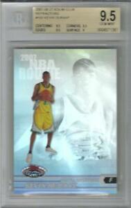 2007 Kevin Durant Stadium Club Refractor RC- BGS 9.5 Gem Mint... #495/999