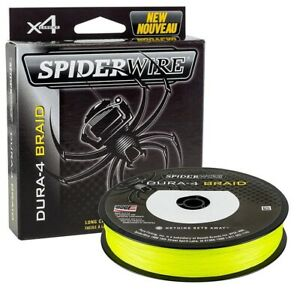(6,66€/100m) SpiderWire Dura 4 Braid gelb yellow 300m Spule geflochtene Schnur