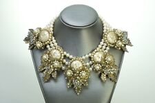 Vintage 1930's Miriam Haskell Pearl Crystal Necklace
