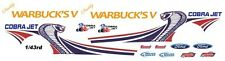 Daddy Warbuck's Cobra Jet Mustang NHRA - Drag1/43rd Scale Slot Car Decals