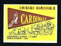 NMT 1959 Topps #24 Chicago Cardinals Pennant card.