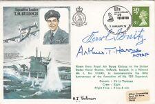 HA22 T.M.Bulloch cover Signed Admiral Karl Donitz MRAF Arthur Harris