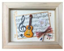 Dekofigur Geldgeschenk-fertig-set HobbyFun Im Rahmen Gitarre Musik Noten 4038