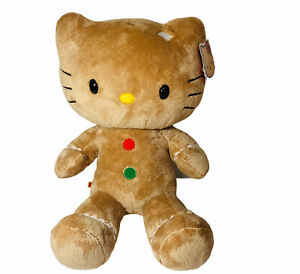 Build a Bear Sanrio Hello Kitty Gingerbread Holiday Plush Cat Stuffed BABW 17""