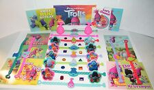 Trolls Movie Party Favors Set of 48 with Bracelets, rings, stickers and Gems!