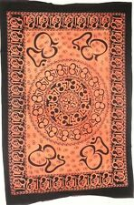 Orange Color Meditation Om Chakra Decorative Wall Hanging Small Tapestry Poster
