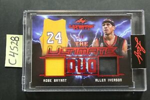 2021 Leaf Ultimate Sports Ultimate Duo IVERSON / KOBE SSP Dual Jersey 1/4 (C4528
