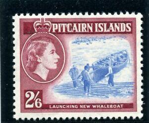 Pitcairn Islands 1959 QEII 2s 6d blue & deep lake superb MNH. SG 28a.