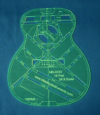"Acoustic MS OOO 14 Fret 24.9"" Scale Top Guitar Template"