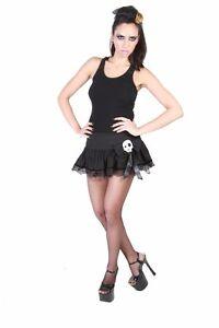 Minirock Death Dolly Skirt Hell Bunny Damenrock sexy Mini schwarz Skull 157016