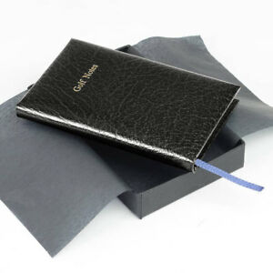 Real Leather Pocket Golf Score Book - Black - IDEAL XMAS GIFT