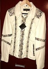 Women's genuine leather with snakeskin Baby Phat jacket
