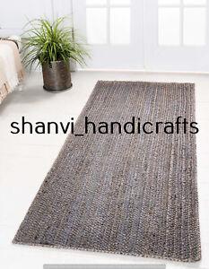 Jute Floor Rug Floor Mat Handwoven Decorative Runner 2x4 Feet Yoga Mat Carpet