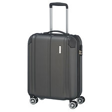 travelite CITY Anthrazit 55cm Bordcase Trolley 4 Rad Reisekoffer Gepäck Schloss