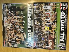 COLLINGWOOD MAGPIES 2010 PREMIERS AND ALL TIED UP DRAW POSTERS