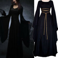 MEDIEVAL WOMEN VINTAGE ROYAL LONG DRESS MAXI LONG SLEEVE NARROW WAIST MODERN